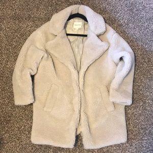 Cream colored teddy coat!!